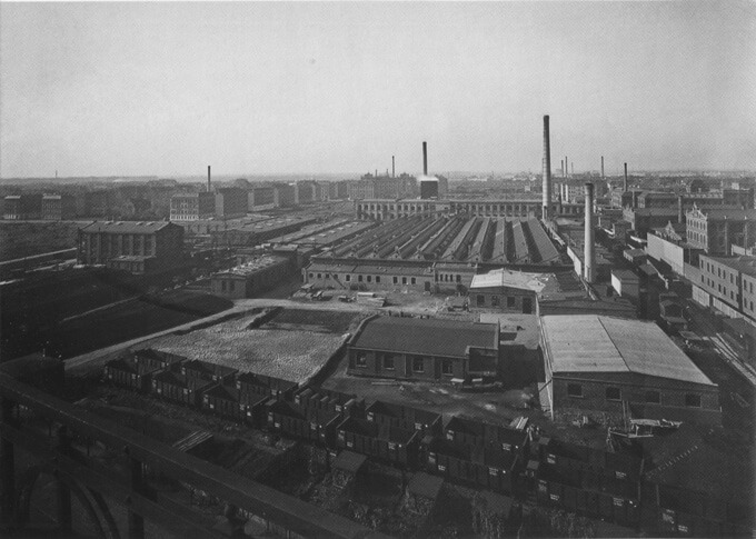 Blick auf Plagwitz' Industriegelände