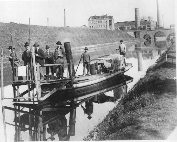 Kanalbau um 1900
