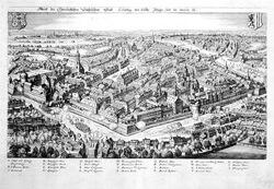Leipzig während der Belagerung durch Heinrich von Holk 1632