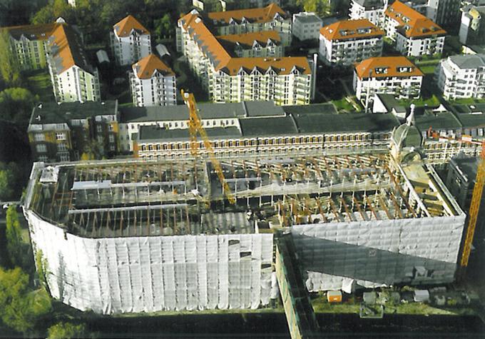 Baustelle Hochbau West im Jahr 2000